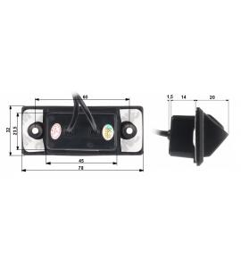 Kamera za vzvratno vožnjo v ohišju za vozila VW, Audio, Seat, Škoda